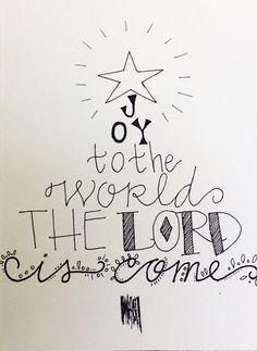 Joy to the world Christmas tree Christian religious by aliveletter, $1.50