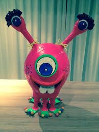 MONSTER PINATA SURPRISE PAPIER MACHE