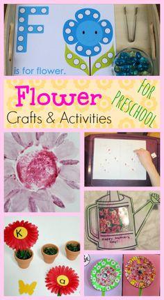 Preschool Flower Crafts and Activities #preschool #homeschool