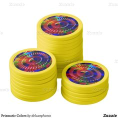 Prismatic Colors Set Of Poker Chips
