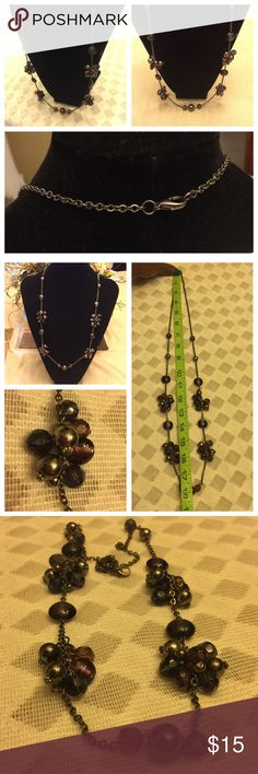 """Lovely Grape Seed 🍇 long necklace Lovely 18"""" Grape Seed Necklace """"one size"""" fits all. Pre-Owned but barely used. See photos attached here for Measurements. No hold and Trades. Unkown Jewelry Necklaces"""