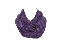On sale Purple with white polka dots circle scarf by noavider, $15.00