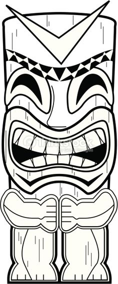 Dead End Tiki Totem Pole Coloring Pages sketch template - Sketch Templates - Ideas of Sketch Templat Aloha Party, Moana Birthday Party, Hawaiian Birthday, Moana Party, Hawaiian Theme, Luau Birthday, Hawaiian Luau, Luau Party, Beach Party