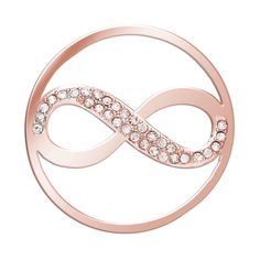 MMR168- Infinity- Sterling Silver and Gold plated whit crystals