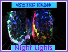 Water Bead Night Light Jars from Creekside Learning