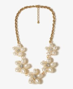 Pearlescent Plumerias Necklace | FOREVER21 - 1027705337