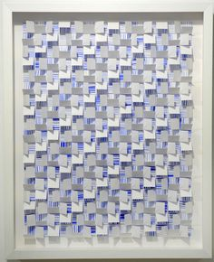 """""""Blue Currents"""" by Gregg Welz, Drawing Paper, 20"""" x 16"""""""