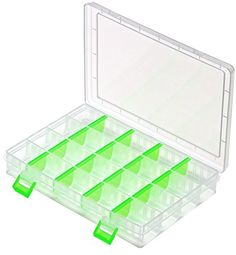 Bead Organizer, Plastic Storage Container with Lid from Premium Compartments. Clear Plastic Storage Box Designed for Ease of Use. Pick Up All Sizes of Beads From the Curved Compartments which are Length Adjustable. Enhance Your Bead Storage Now! Premium Compartments http://www.amazon.com/dp/B00YB4HHXO/ref=cm_sw_r_pi_dp_gmSDvb0VSTK2J