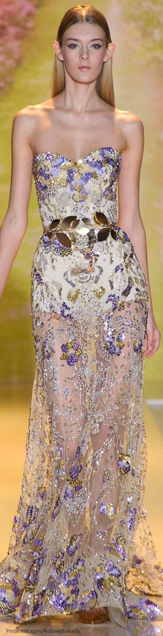 Zuhair Murad Haute Couture | S/S 2014..I love the hints of purple! Perfection!