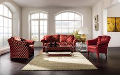 The upholstered suite Carmen combines a beautiful shape with practical functioning.