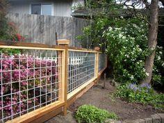 New Hog panel garden fence