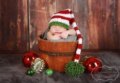 Crochet Newborn Elf Hat, Christmas Baby Hat, Photography prop, Holiday, Halloween by AllHookdUp on Etsy