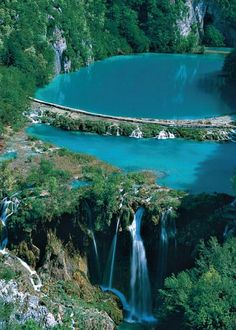Plitvica lakes - Croatia. 16 beatiful blue lakes connected by 15 waterfalls of…