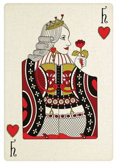 Queen Playing Card | Modern Play Card series - Queen of Hearts - Illustrator/Photoshop ...