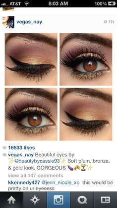 Purple gold eyeshadow