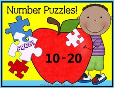 Number Puzzles 10-20 (tricky teens) from MOORE Miscellaneous Fun! on TeachersNotebook.com -  (4 pages)  - Help your students with those tricky teens! Print on cardstock, laminate, and cut out these 11 self-checking puzzles. Great for a math center!  *Place the label card inside a baggie to keep the puzzle pieces together