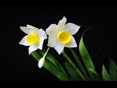 ABC TV | How To Make Daffodils Flower From Crepe Paper #2 - Craft Tutorial - YouTube