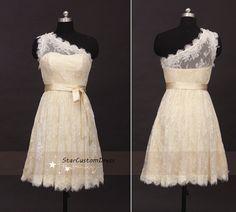 Short Lace Bridesmaid Dress Short Lace von StarCustomDress auf Etsy