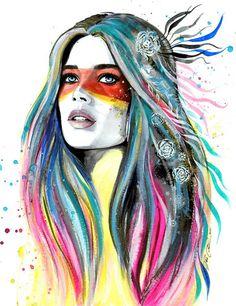 Con acuarelas, esta chica de 23 años logra un estilo de arte que nunca habías…