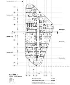 Жилой комплекс на Песчаной улице. План этажа второго корпуса © Четвертое Измерение