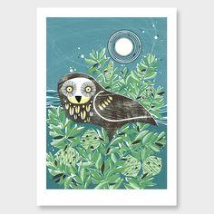 Midnight on Kauri Art Print by Holly Roach