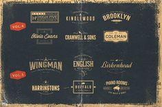 The Vintage Bundle of logos by Ian Barnard http://crtv.mk/tSV2
