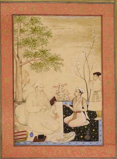 Dara Shikoh with a tutor, attributed to Chitarman, c. 1630 (British Library Add.Or.3129, f.33v)