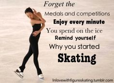 17 year old figure skater from london :) will be posting inspirational pictures about skating and my passion for the sport. (I do not own any of the images used) Ask me Stuff! Figure Skating Funny, Figure Skating Quotes, Figure Skating Dresses, Ice Skating Quotes, Figure Ice Skates, Skate 3, Remember Why You Started, Ice Dance, Get Excited
