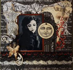 Ode to Lace and Pearls **Scraps of Darkness** Dec Round Robin - Scrapbook.com