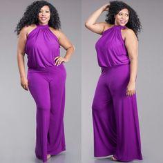 Ashley Purple Jumpsuit