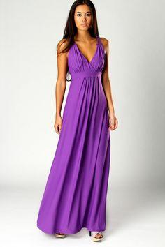 Love this bright purple maxi!