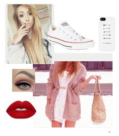 """Untitled #79"" by elliethemunchkin on Polyvore featuring beauty, Converse and Lime Crime"