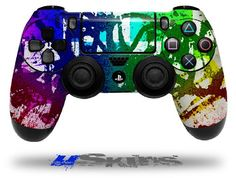 Rainbow Graffiti - Decal Style Wrap Skin fits Sony PS4 Dualshock 4 Controller - CONTROLLER NOT INCLUDED - Androidizen