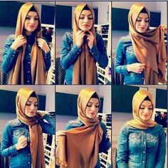I have written Turkish hijab tutorial step by step for girls who want to adopt classy Turkish hijab style. These Turkish Hijab style steps are very easy. Turkish Hijab Tutorial, Hijab Style Tutorial, Islamic Fashion, Muslim Fashion, Hijab Fashion, Style Fashion, Stylish Hijab, Hijab Chic, Beau Hijab