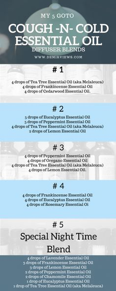 doTERRA Wellness Advocate: get discount for all the essential oils! Start your home business as a dōTERRA WELLNESS Advocate or you can order as a Wholesale Member My 5 goto cough -N- cold essential oil diffuser blends · DemirViews Essential Oil Diffuser Blends, Doterra Essential Oils, Essential Oil Blends For Colds, Essential Oil Cold Remedy, Doterra Blends, Sinus Congestion Essential Oils, Breathe Essential Oil, Essential Oil Sore Throat, Peppermint Essential Oils