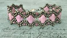 Linda's Crafty Inspirations: Bracelet of the Day: Esther Silky Bracelet - Lila Luster
