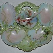 Antique Martial Redon Rare Form Oyster Plate