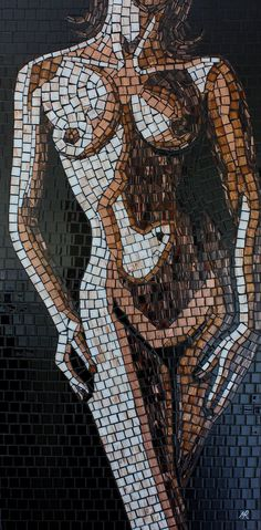 Hand Crafted Glass Mosaics by Artist Mark Roberts Not that I would ever have nude mosaics in my house but very detailed and a little creepy.