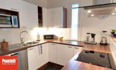 Puustelli keittiö / kök Kitchen Island, Kitchen Cabinets, Home Decor, Island Kitchen, Decoration Home, Room Decor, Cabinets, Home Interior Design, Dressers