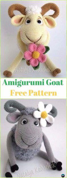 Amigurumi Goat Free Pattern - Crochet Sheep Free Patterns
