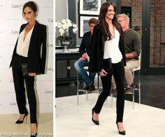Celeb Looks for Less: Victoria Beckham, Red Carpet - on Steven and Chris