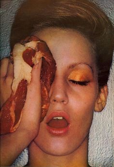 American Beauty Collections photographed by Helmut Newton for US Vogue, October 1974 jerry hall