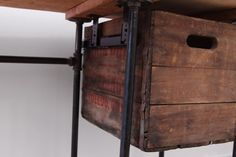 Reclaimed Wood Crate Storage Drawer by iReclaimed on Etsy