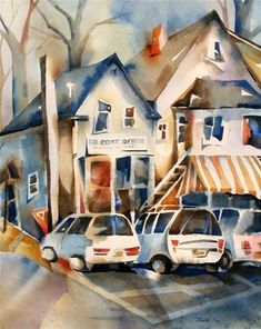 """Daily+Paintworks+-+""""Brookside+,NJ""""+-+Original+Fine+Art+for+Sale+-+©+Jinnie+May"""
