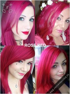 Directions-Coloring hair balsam - Rose Red #haircolor #brighthair #directions #lariche #gothichair #hairfashion #hairspiration #gothichairstyle #coloredhair #hairdye #hairdye #brighthair #girlwithdyedhair   Fantasmagoria.eu - Gothic Fashion boutique Gothic Hairstyles, Permed Hairstyles, Cool Hairstyles, Shades Of Red Color, Hair Color Dark, Semi Permanent Hair Dye, Bleaching Your Hair, Synthetic Hair Extensions, Bright Hair