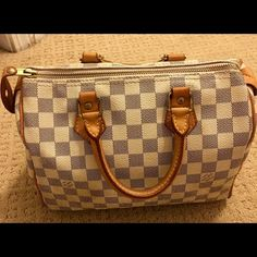 2984262f9d54c Louis Vuitton Damier azure speedy 25. SOLD SOLD Authentic speedy 25 bag.  Good used