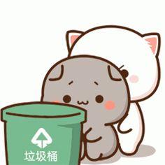 Cute Anime Cat, Anime Girl Neko, Cute Cat Gif, Cute Anime Chibi, Cute Cartoon Pictures, Cute Love Cartoons, Doodle Pictures, Cute Bear Drawings, Cute Cat Illustration