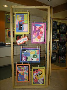 Displaying students artwork for Fine Arts Night