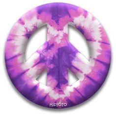 Purple Peace Signs Clip Art | Peace Symbol Magnet of Purple Tie Dye Heart by MEYOTO LLC