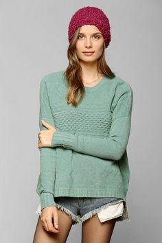 Staring At Stars Mixed-Stitch Sweater
